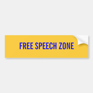 FREE SPEECH ZONE BUMPER STICKER