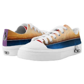Free Spirit Abstract Low-Top Sneakers