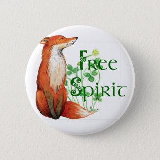 free spirit fox 2 inch round button