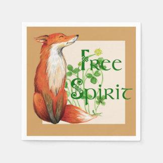 free spirit fox paper napkins