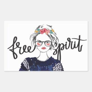 Free Spirit Teen Fashion Vogue Glossy Sticker