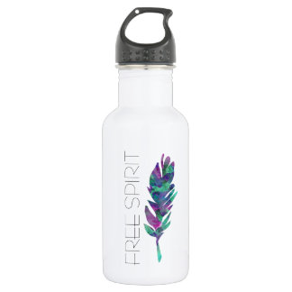 Free Spirit Watercolor Feather 532 Ml Water Bottle