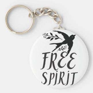 free spirit with pretty swallow bird keychain