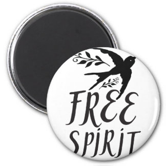 free spirit with pretty swallow bird magnet