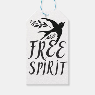 free spirit with pretty swallow bird pack of gift tags