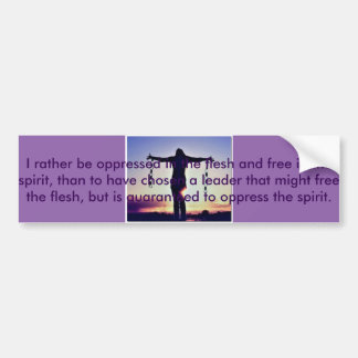 Free Spirited Bumper Sticker