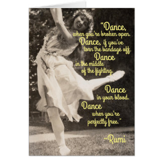 Free Spirited Dancing Hippie Fairy Faerie Sprite Card