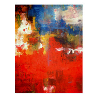 Free Style Abstract Postcard