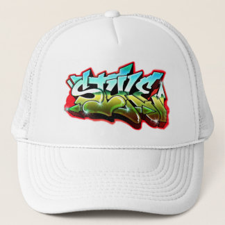 free style graffiti trucker hat