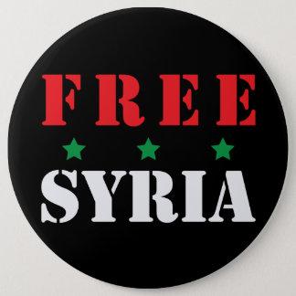 FREE SYRIA 6 INCH ROUND BUTTON
