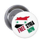 Free Syria Now Pinback Buttons