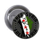 Free Syria Pinback Buttons