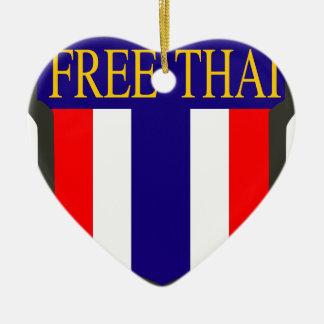 Free_Thai_insignia Ceramic Heart Ornament