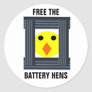 Free The Battery Hens Sticker