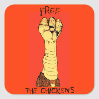 Free the chickens sticker