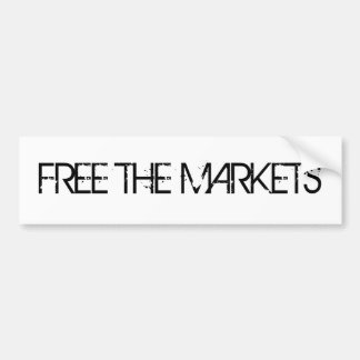 Free The Markets Bumper Sticker