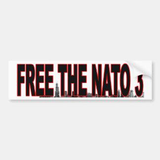FREE the NATO 3 bumper sticker