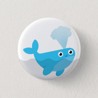 Free The Whales 1 Inch Round Button