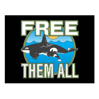 Free Them All Whales Postcards