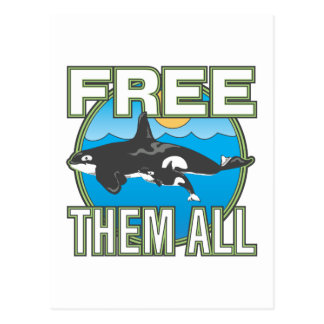 Free Them All (Whales) Post Cards