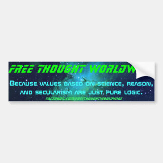 Free Thought Worldwide Bumper Sticker