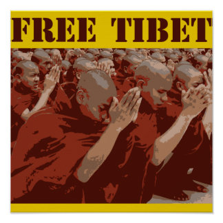 Free Tibet Buddhist Monks Poster