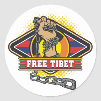 Free Tibet Chains Classic Round Sticker