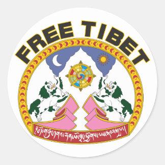 Free Tibet Emblem Stickers
