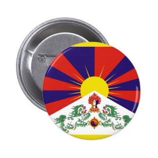 Free Tibet Flag 2 Inch Round Button