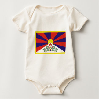 Free Tibet Flag - Peu Rangzen བོད་རང་བཙན་ Baby Bodysuit