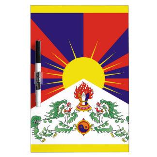 Free Tibet Flag - Peu Rangzen བོད་རང་བཙན་ Dry Erase Board