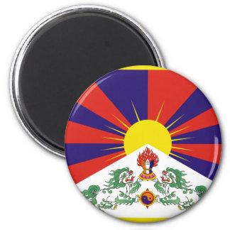 Free Tibet Flag - Peu Rangzen བོད་རང་བཙན་ Magnet