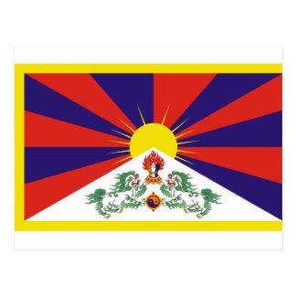 Free Tibet Flag - Peu Rangzen བོད་རང་བཙན་ Postcard