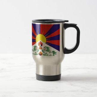 Free Tibet Flag - Peu Rangzen བོད་རང་བཙན་ Travel Mug