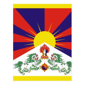 Free Tibet Flag Postcard