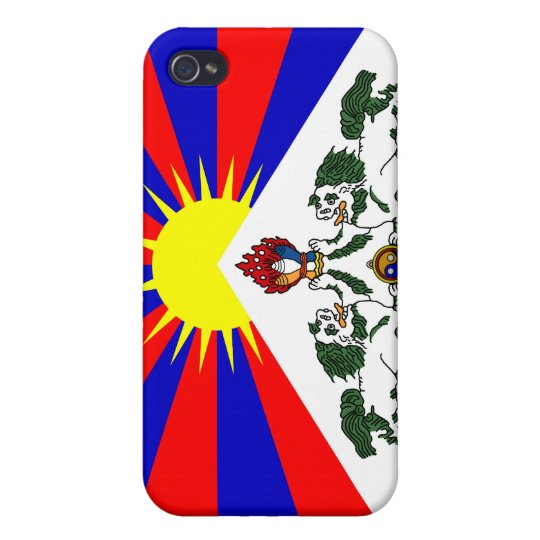 Free Tibet Flag -Tibetan Flag iPhone 4 Cases