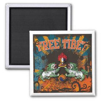 Free Tibet Grunge Art Magnet