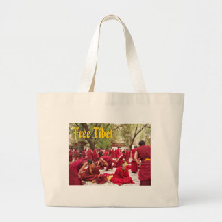 Free Tibet Large Tote Bag