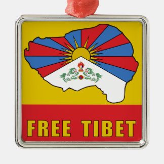 Free Tibet Metal Ornament