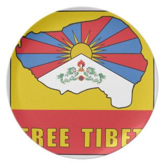 Free Tibet Plate