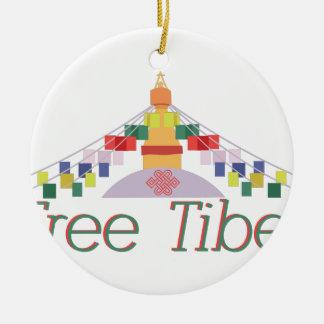 Free Tibet Round Ceramic Ornament