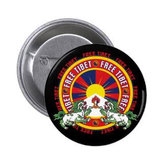 Free Tibet Round Logo 2 Inch Round Button