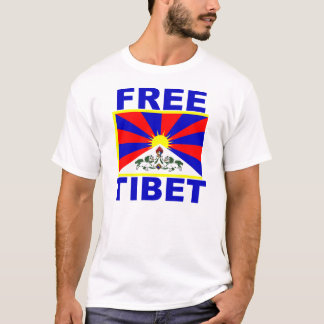 Free Tibet with Tibetan Flag T-Shirt