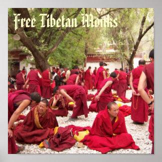 Free Tibetan Monks Poster
