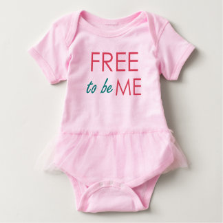 FREE to be ME Baby BODYSUIT Tutu