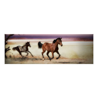 FREE TO BE WILD RUNNING HORSES POSTER