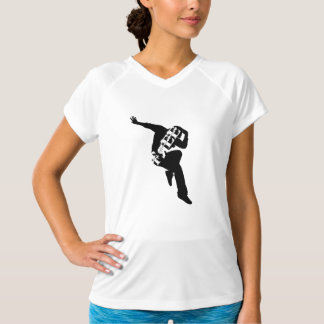 Free to Dance Women's Sport-Tek Fitted Perform V T-Shirt