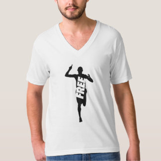 Free to Run Men's American Apparel Fine Jersey V T-Shirt