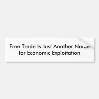 Free Trade Bumper Sticker