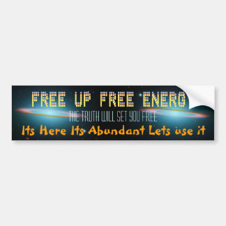 FREE UP bumper sticker